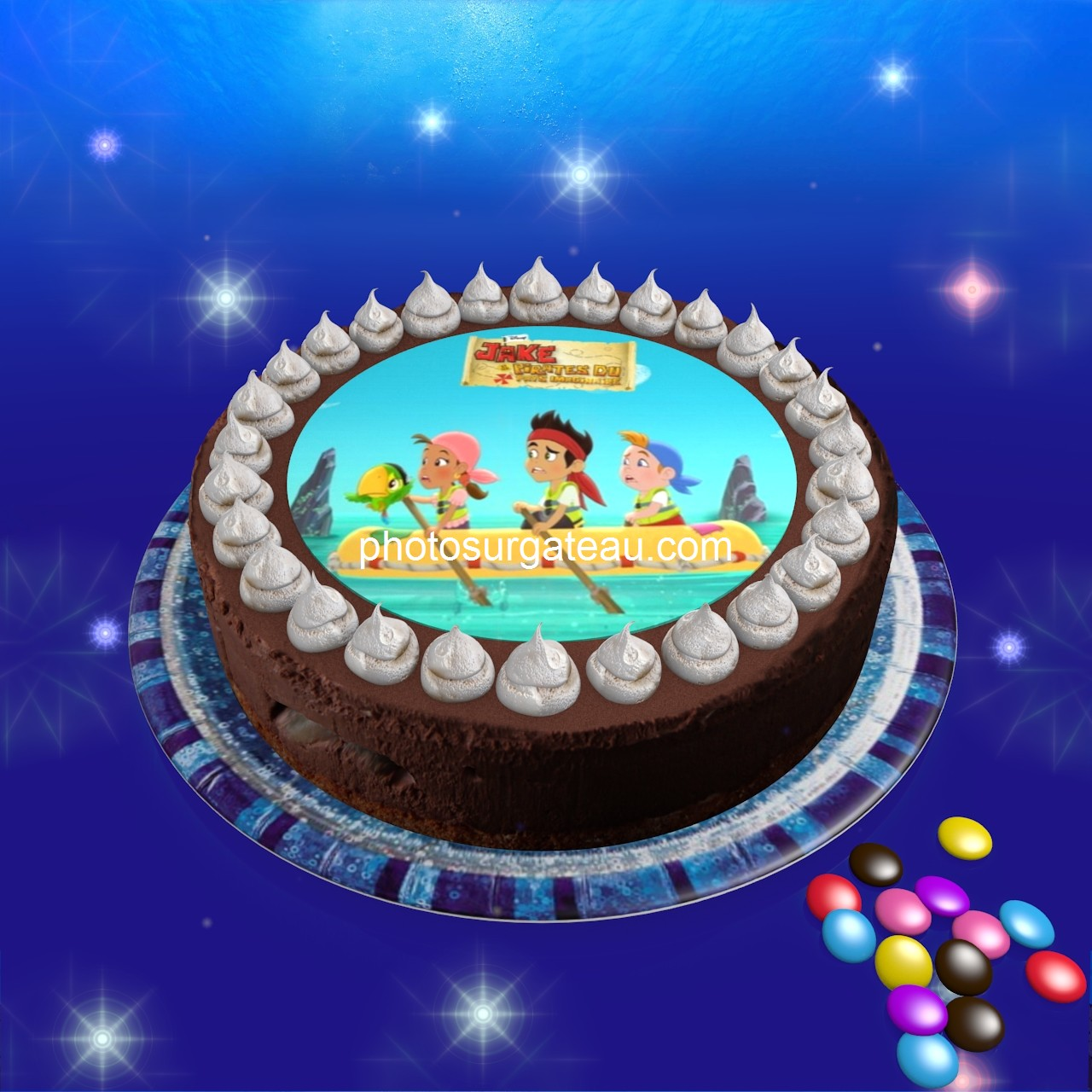 decoration gateau jack et les pirates