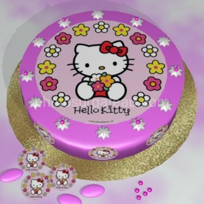 Feuille alimentaire en azyme ou en sucre Hello kitty