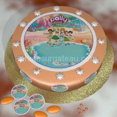Feuille alimentaire en azyme ou en sucre Polly pocket
